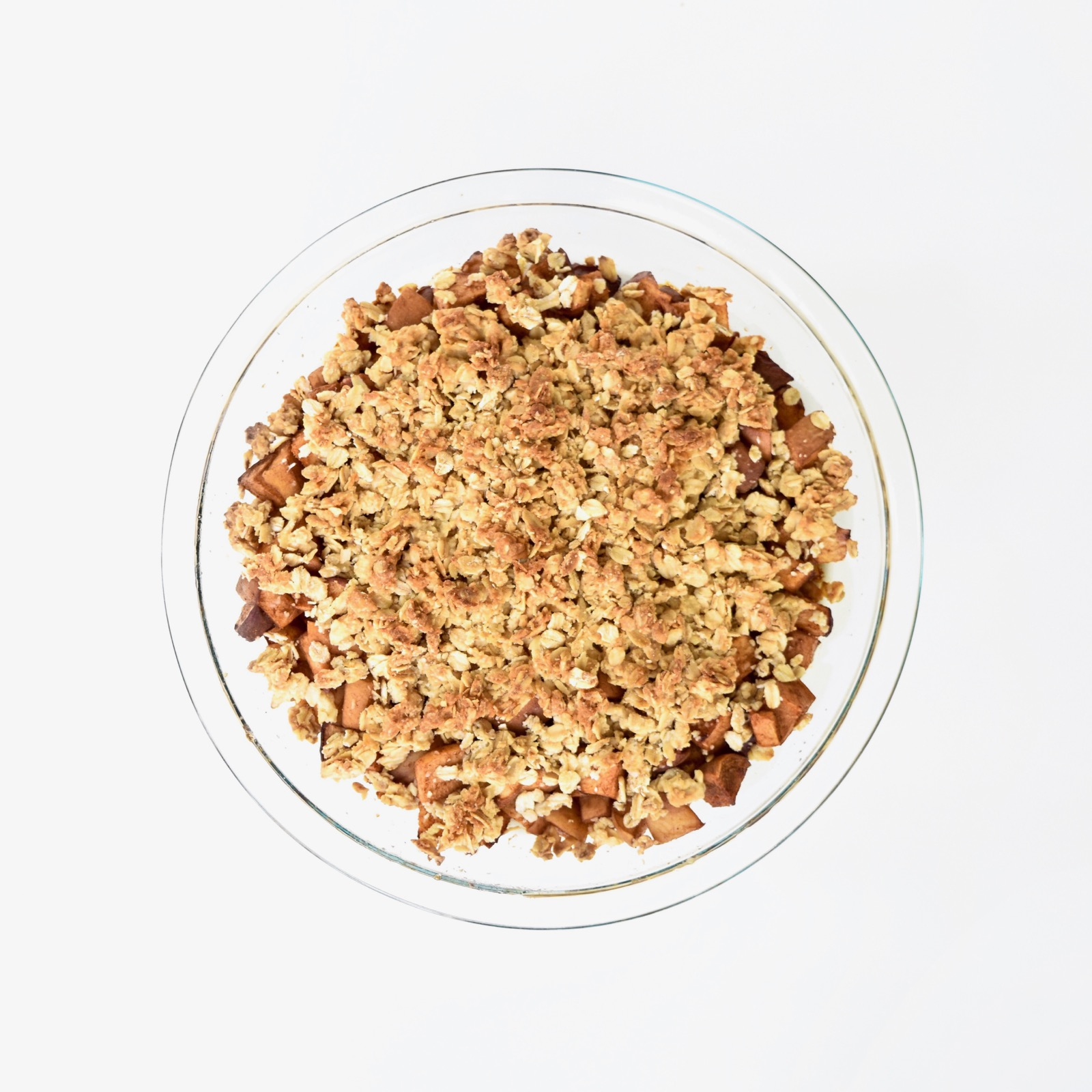 no sugar added peach crumble
