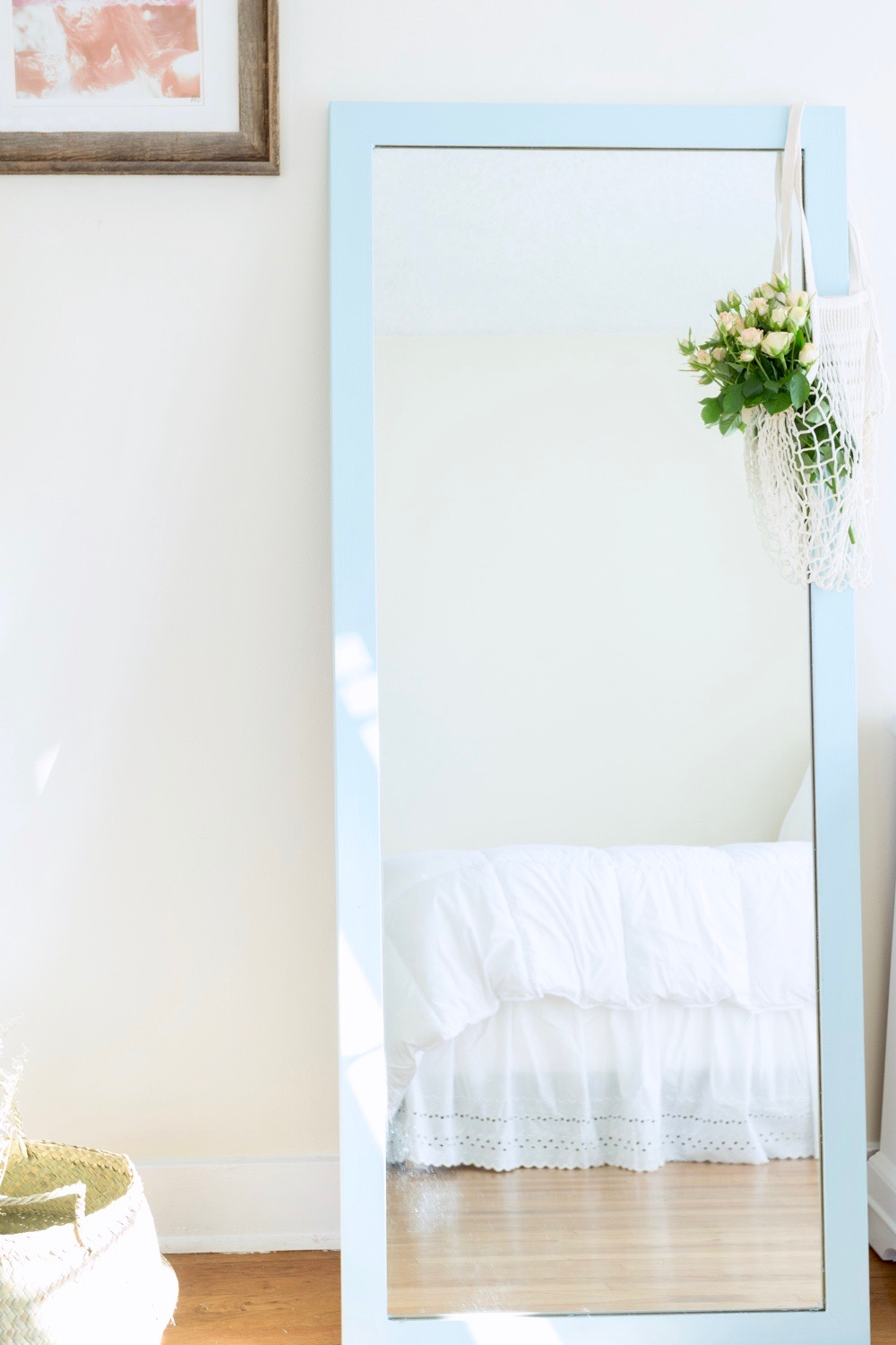 Custom Light Blue Full Length Mirror