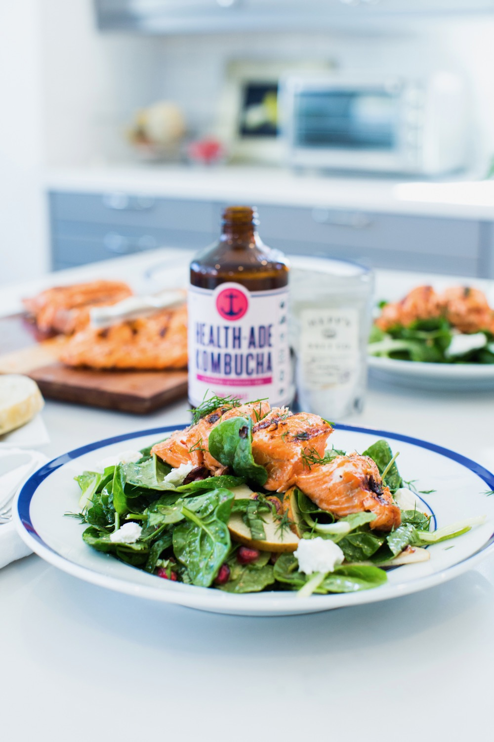 Seared Salmon Salad With Goat Cheese And Truffle