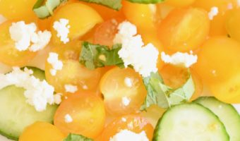 simple salad recipe tomato feta cucumber