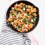 Sweet Potato, Mushroom, Crispy Kale & Goat Cheese Skillet Recipe