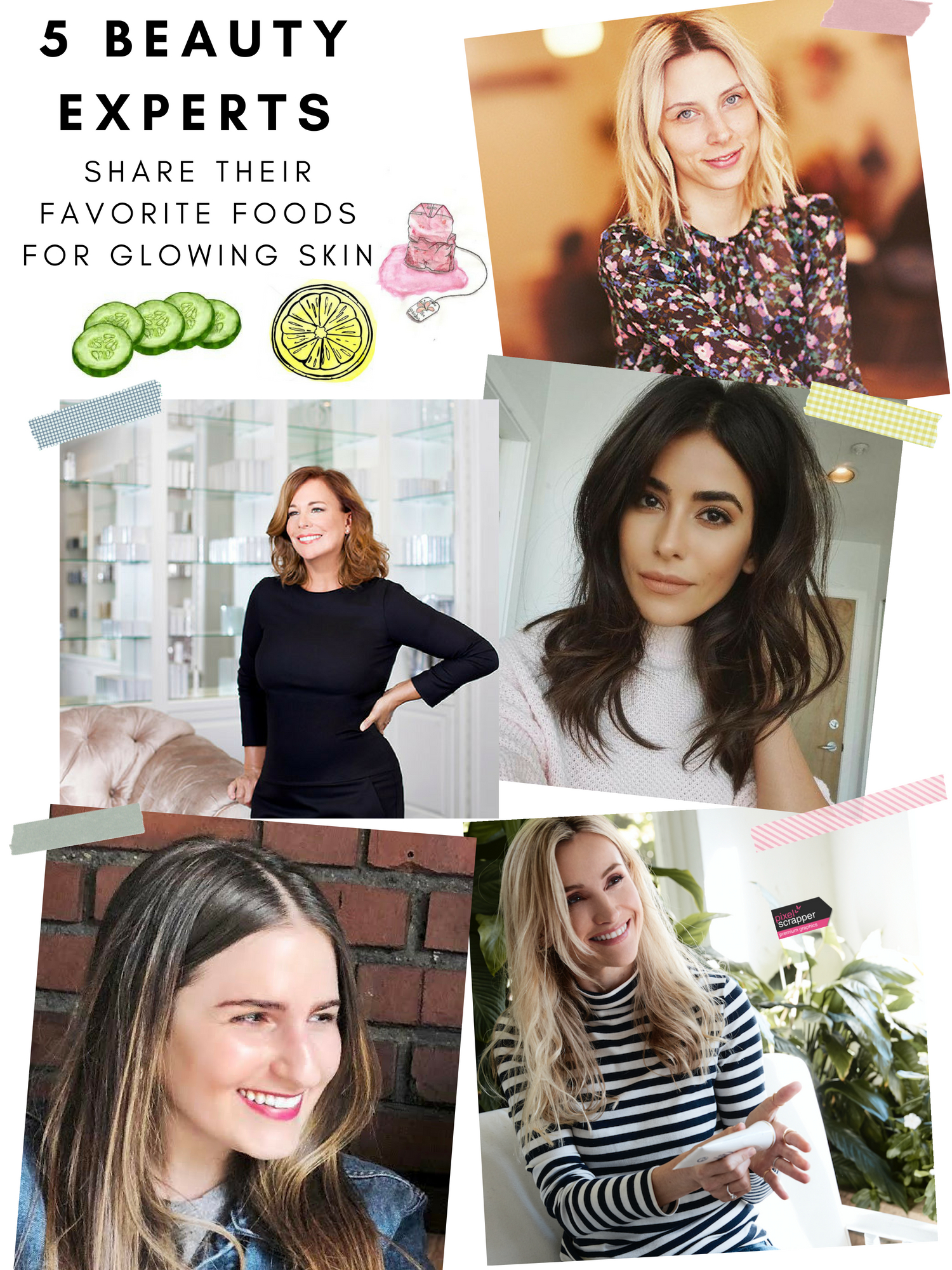 5 beauty experts share theirfavorite foods for glowing skin