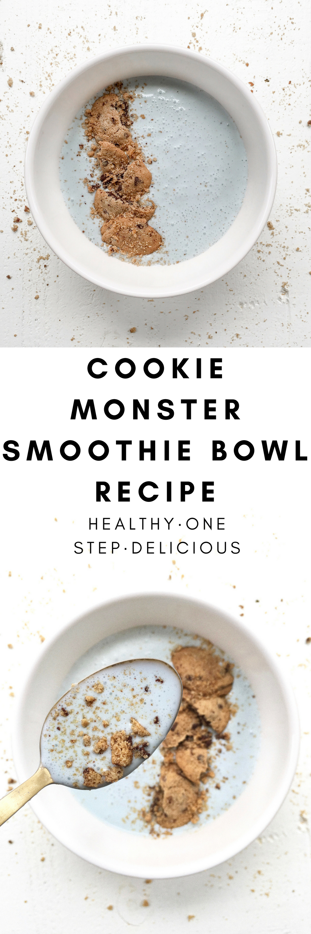 Cookie Monster Smoothie Bowl Recipe
