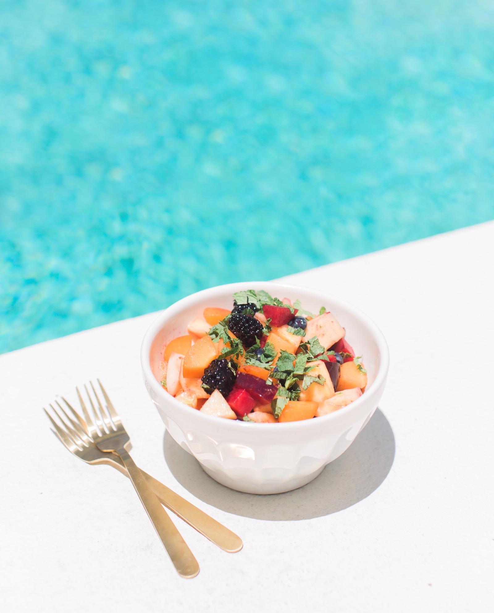 Summer Rose Water Fruit Salad