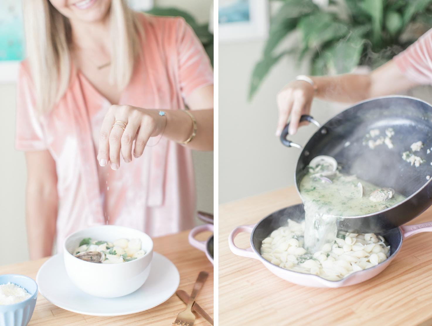 Cheese Clam Pasta Recipe