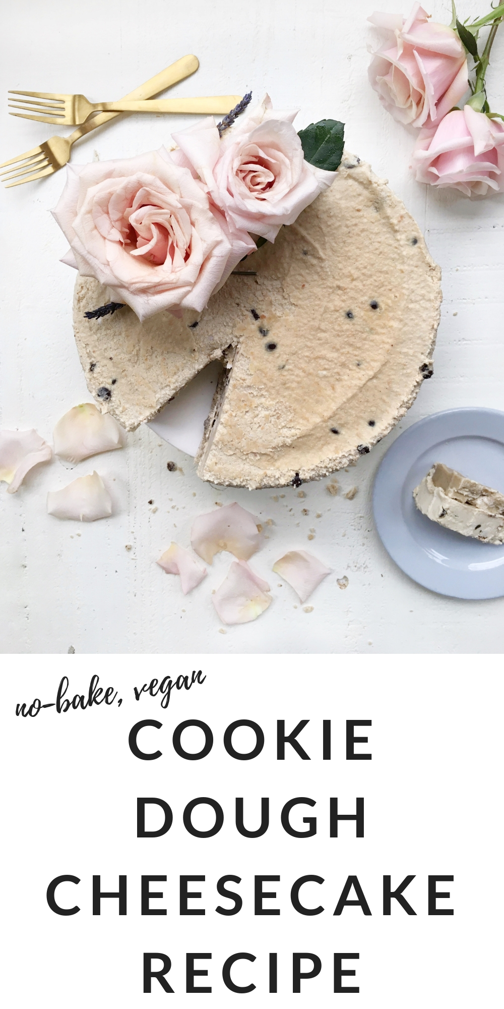 easy no bake vegan cookie dough cheesecake