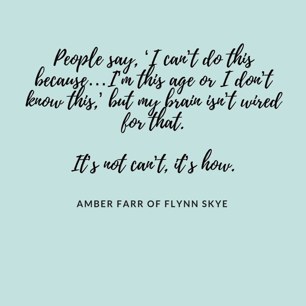 Flynn Skye Interview Quote