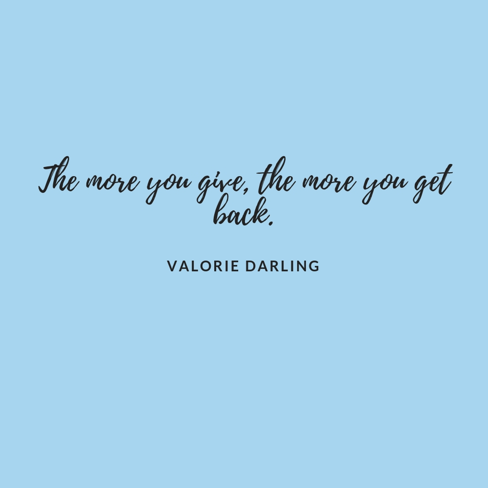 Valorie Darling Interview Quote
