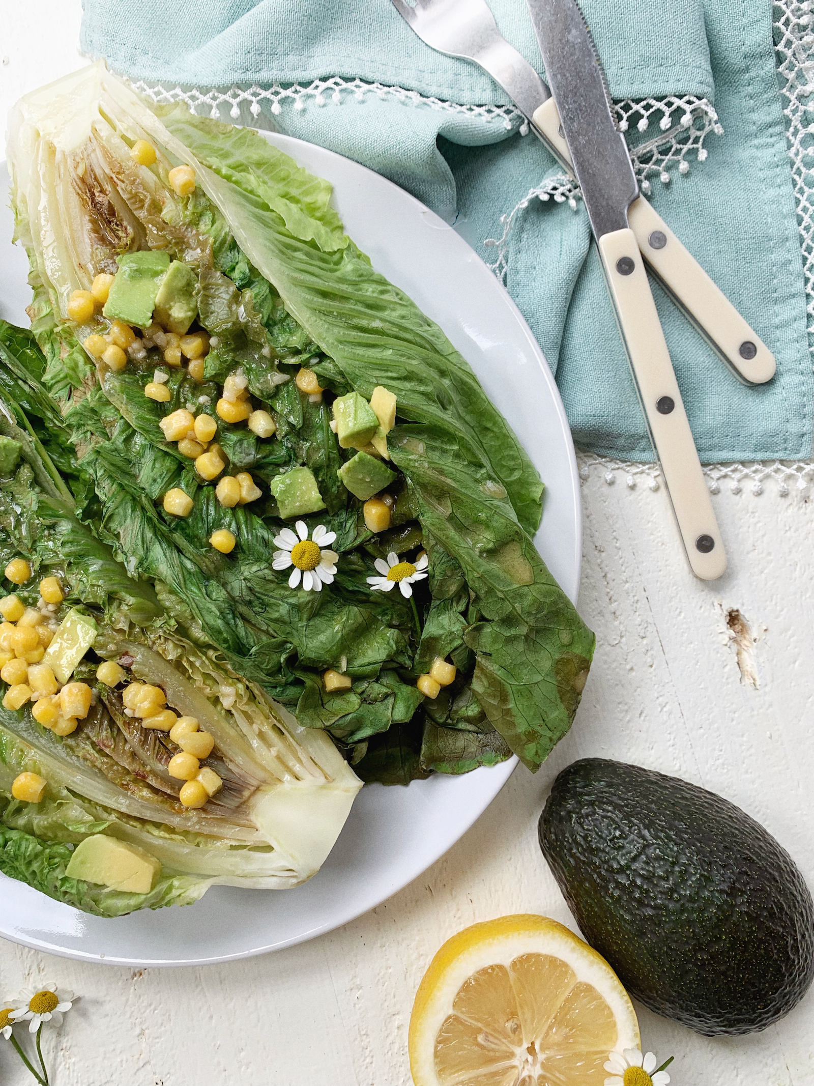 Ginger Romaine Miso Salad Recipe