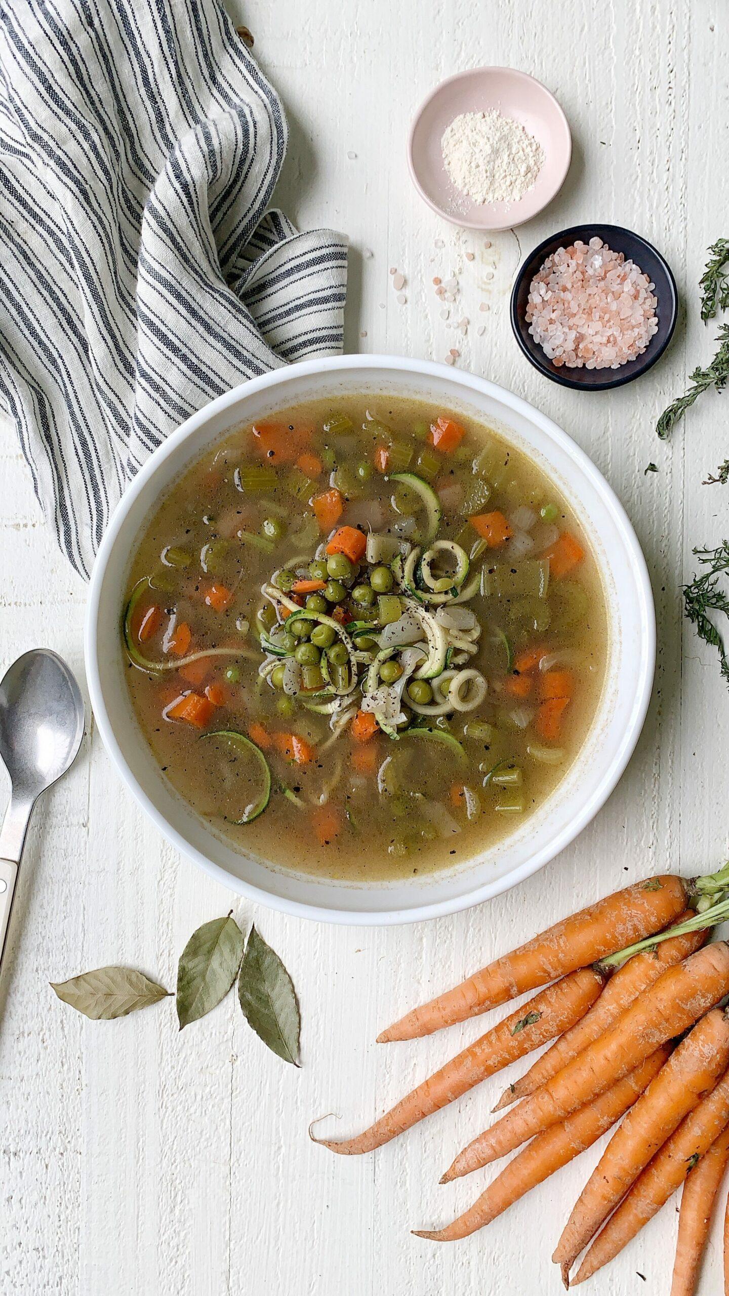 veggie bone broth soup recipe