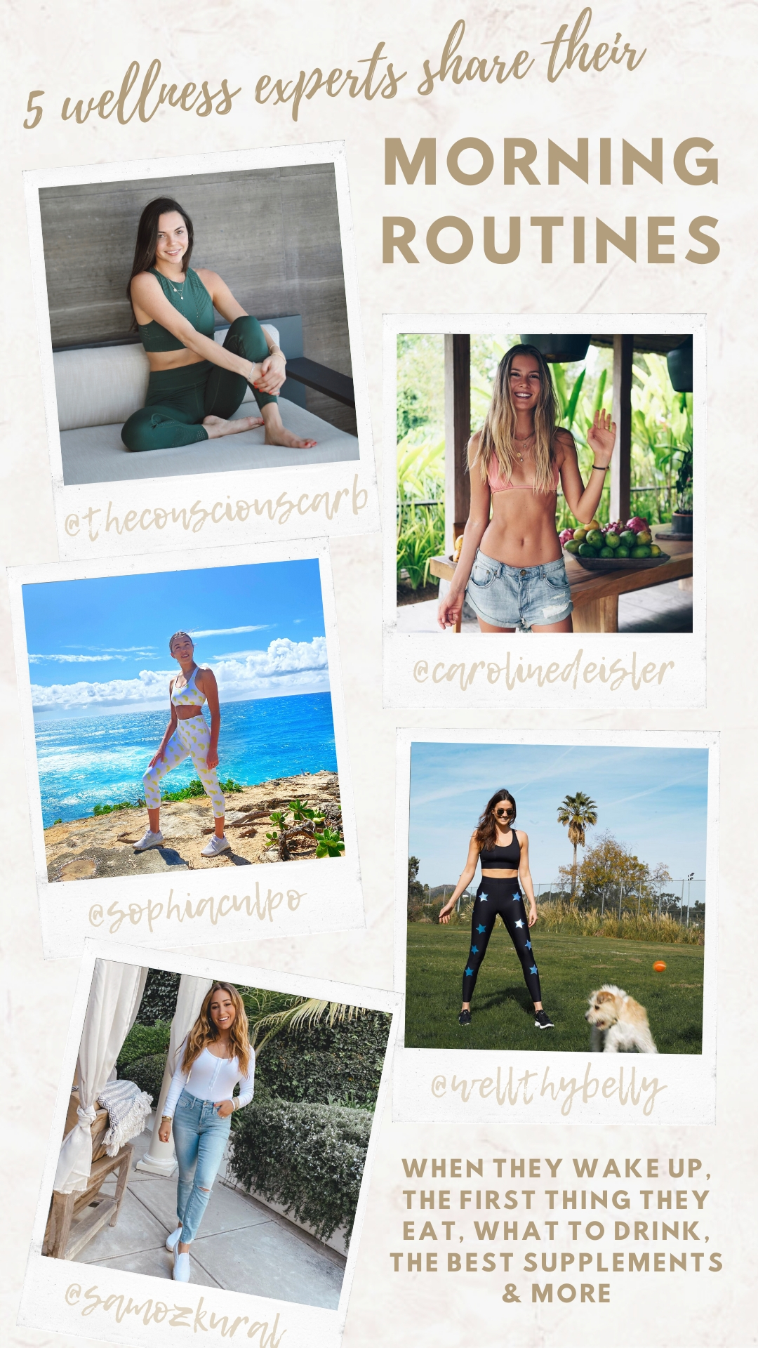 5 wellness influencers morning routines