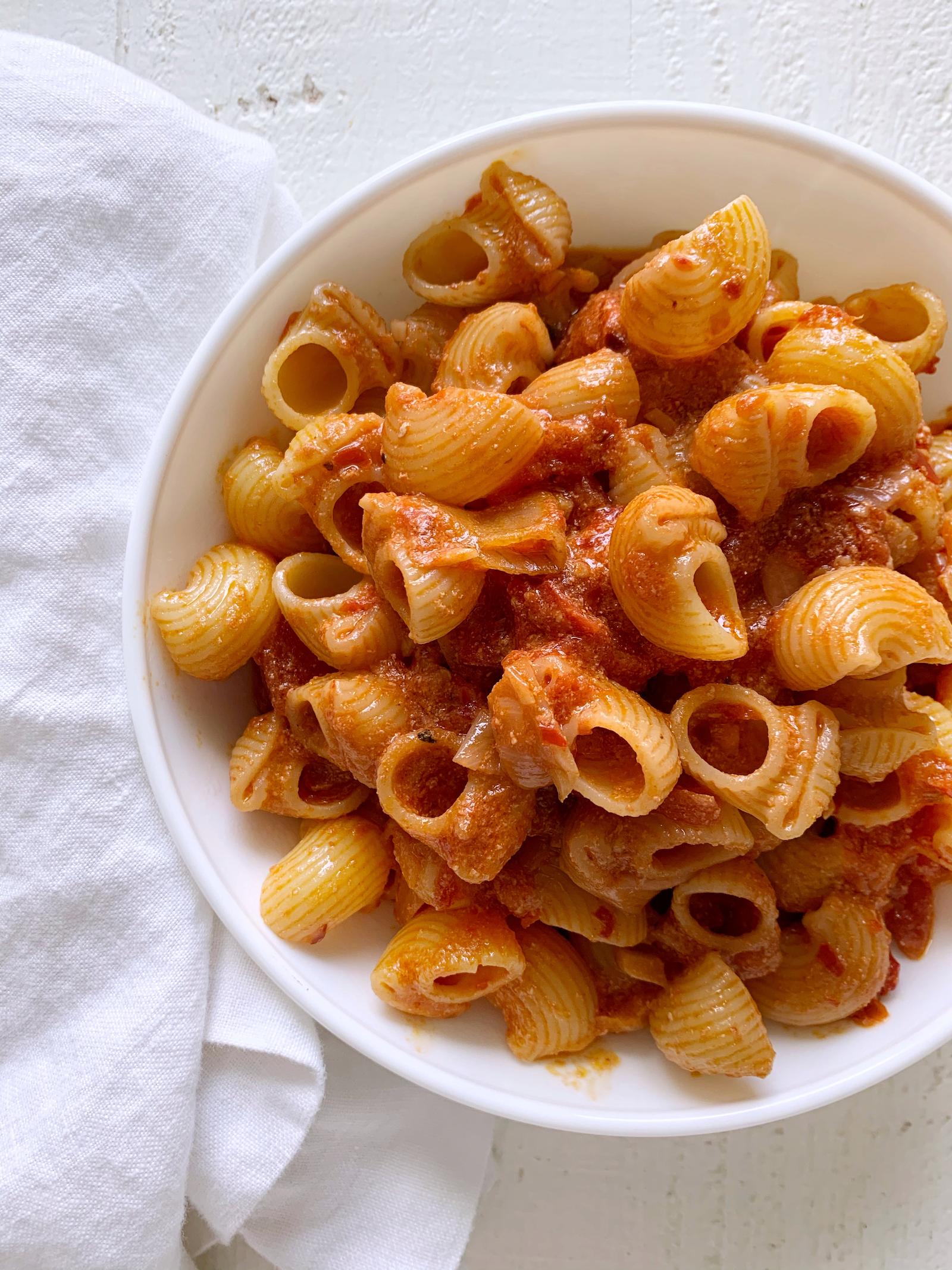 healthy carbone pasta recipe