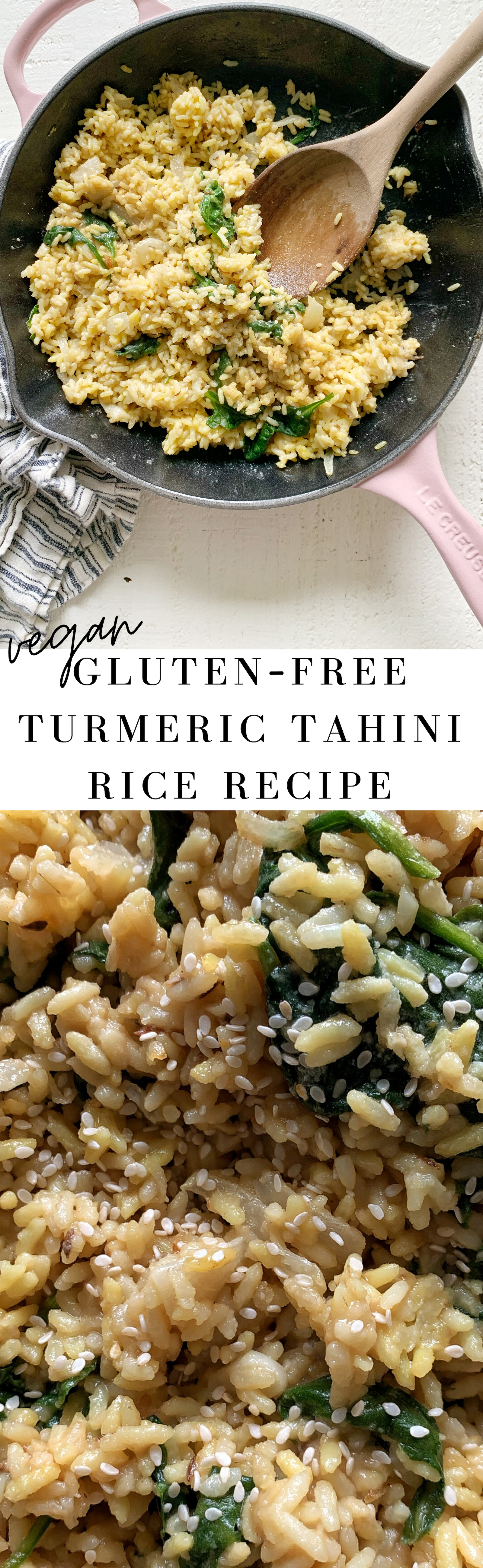 vegan turmeric tahini rice recipe