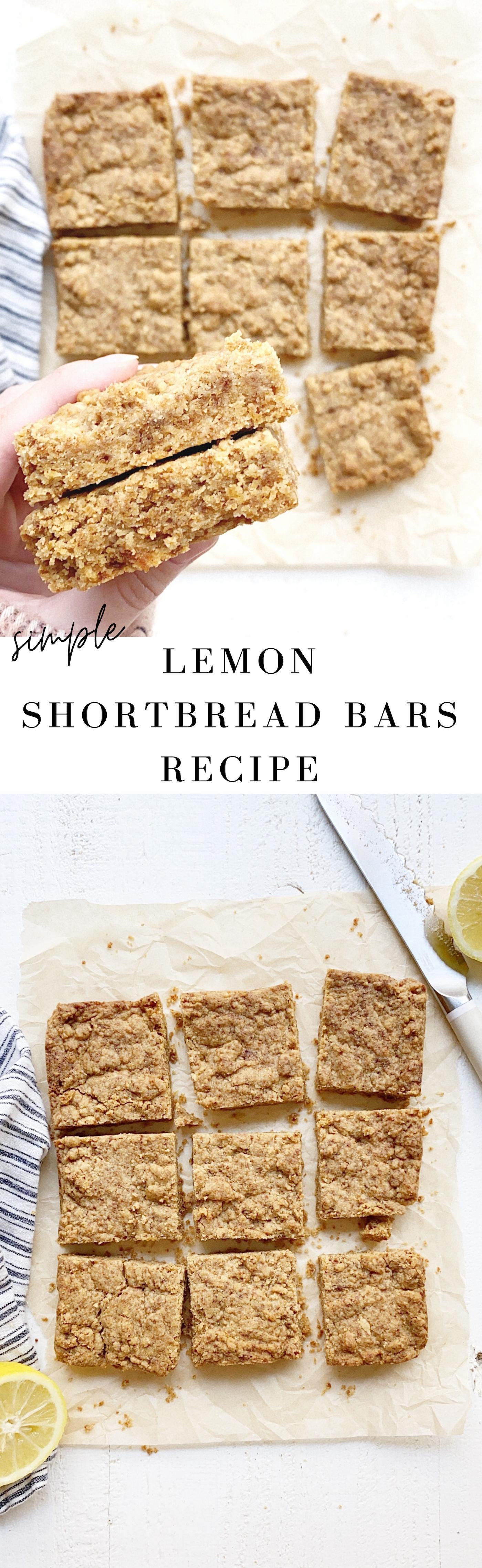 Lemon Shortbread Bars Recipe