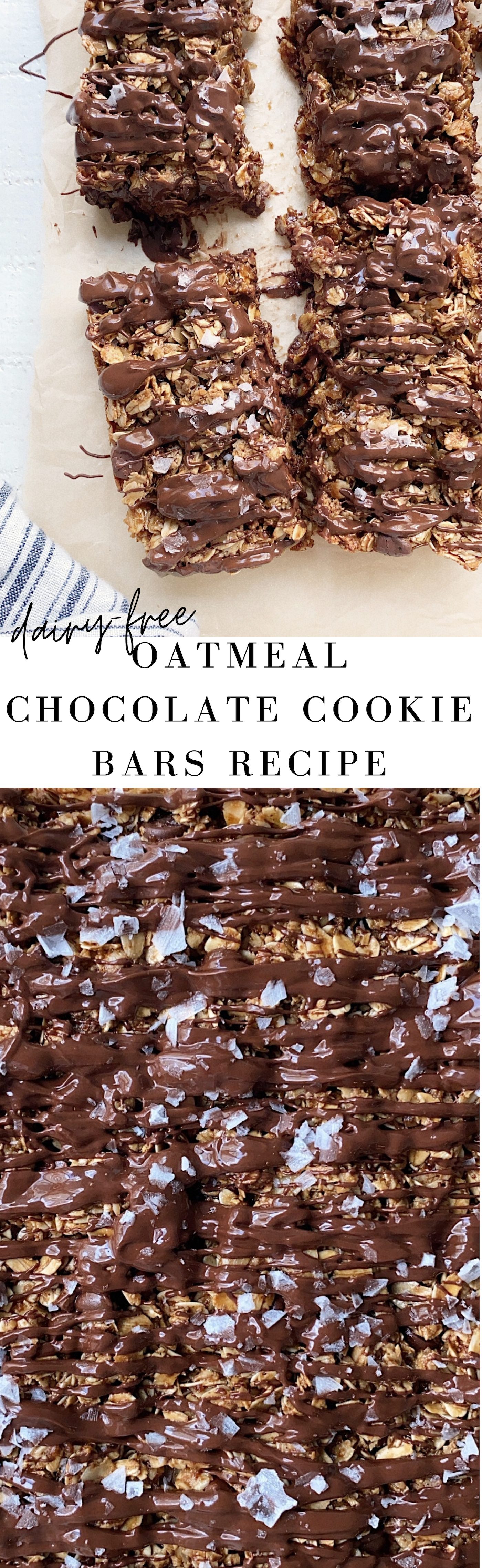 Oatmeal Chocolate Cookie Bars Recipe