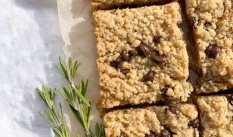 Orange Rosemary Chocolate Shortbread