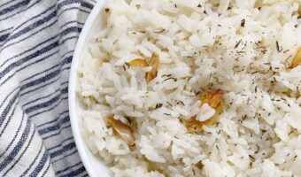 Vegan Garlic Butter Rice Recipe